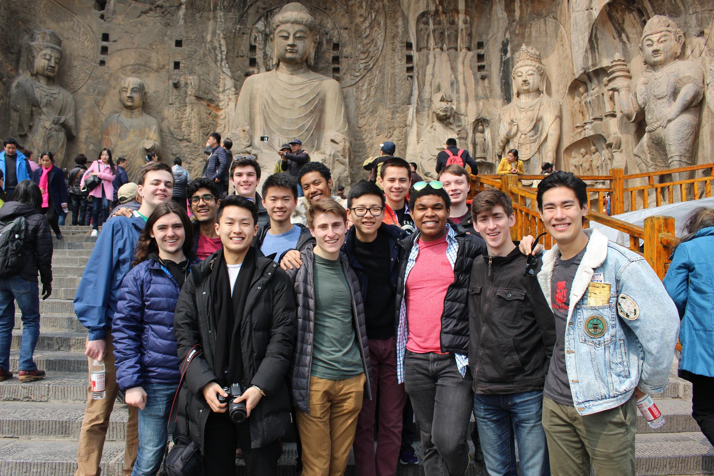 At the Longmen Grottos in Luoyang
