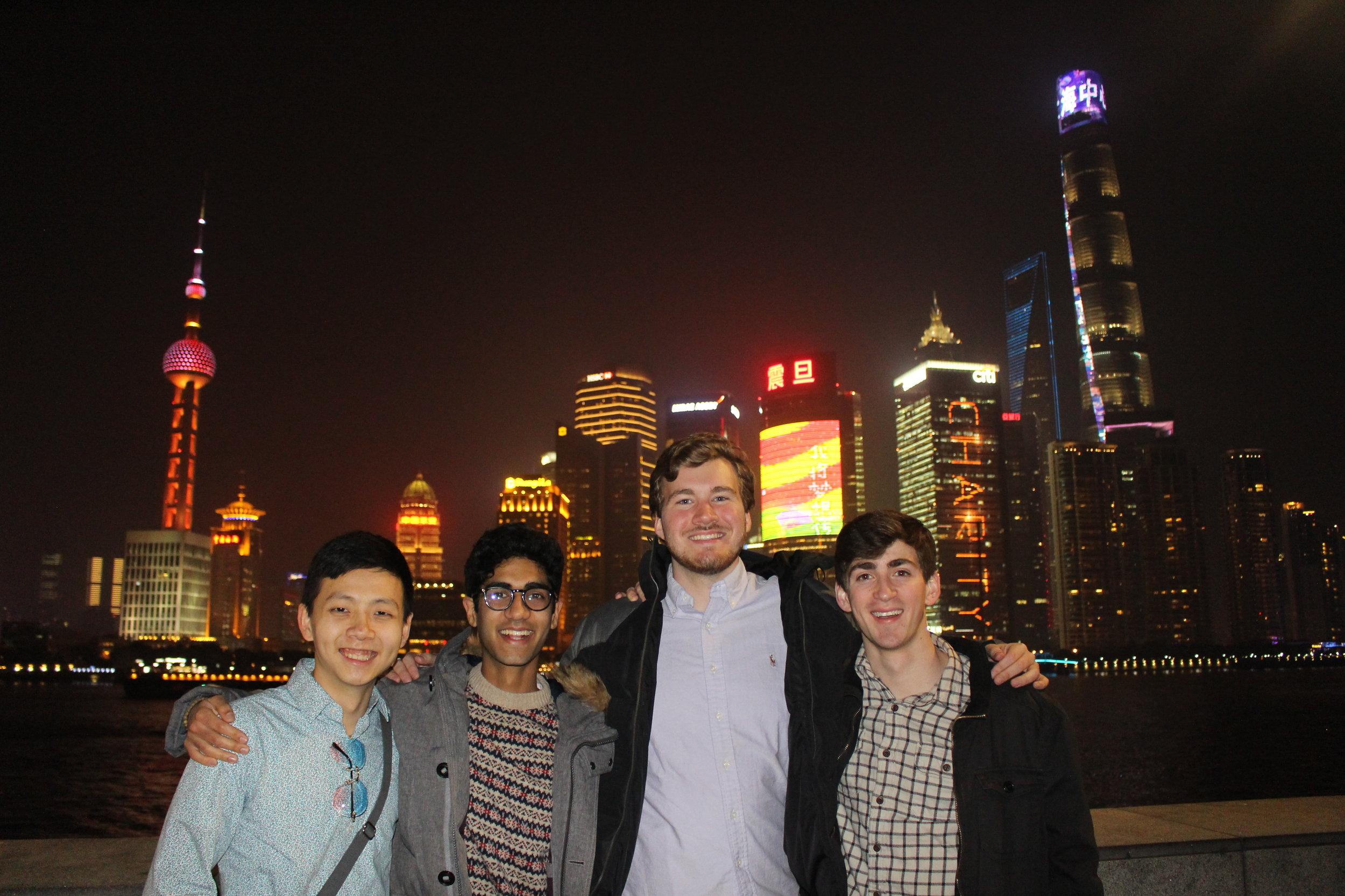 Our junior class at the Bund in Shanghai