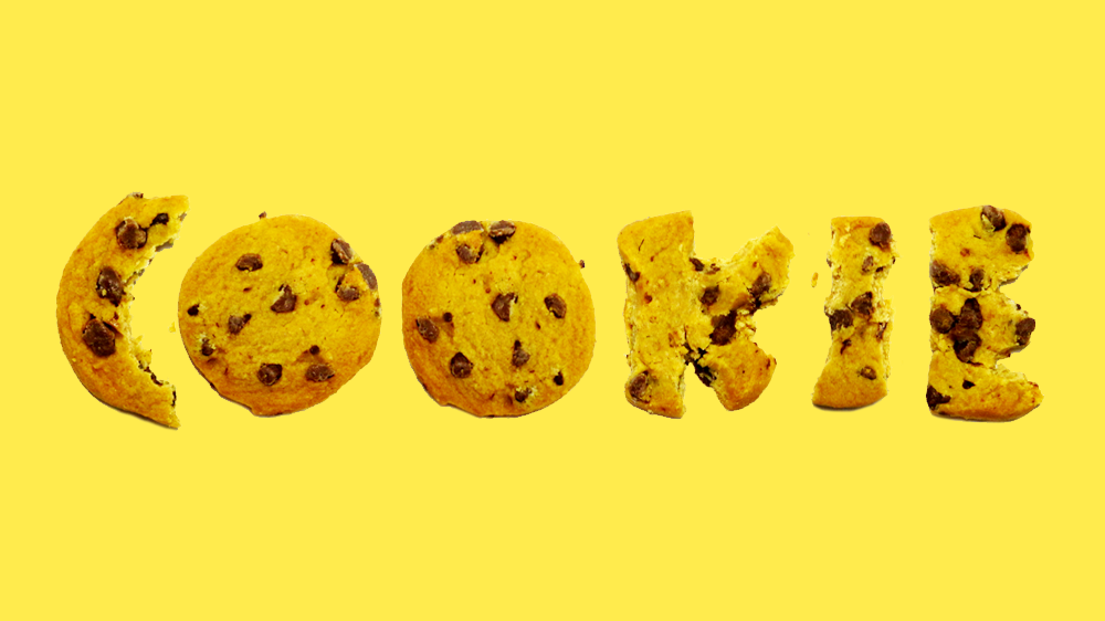 A playful photographic typeface that I made using chocolate chip cookies.
