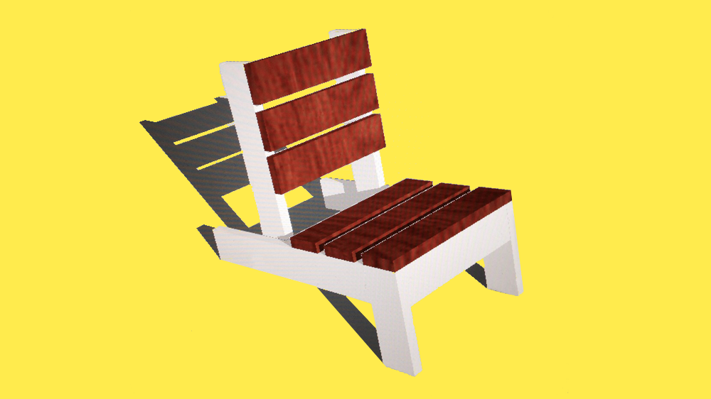 An outdoor chair I designed so that anyone can make it with cheap tools and materials.