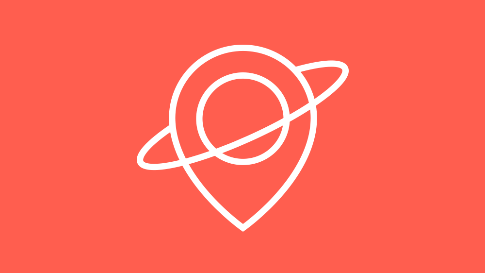 Logo and communication design for a location-based social networking app.