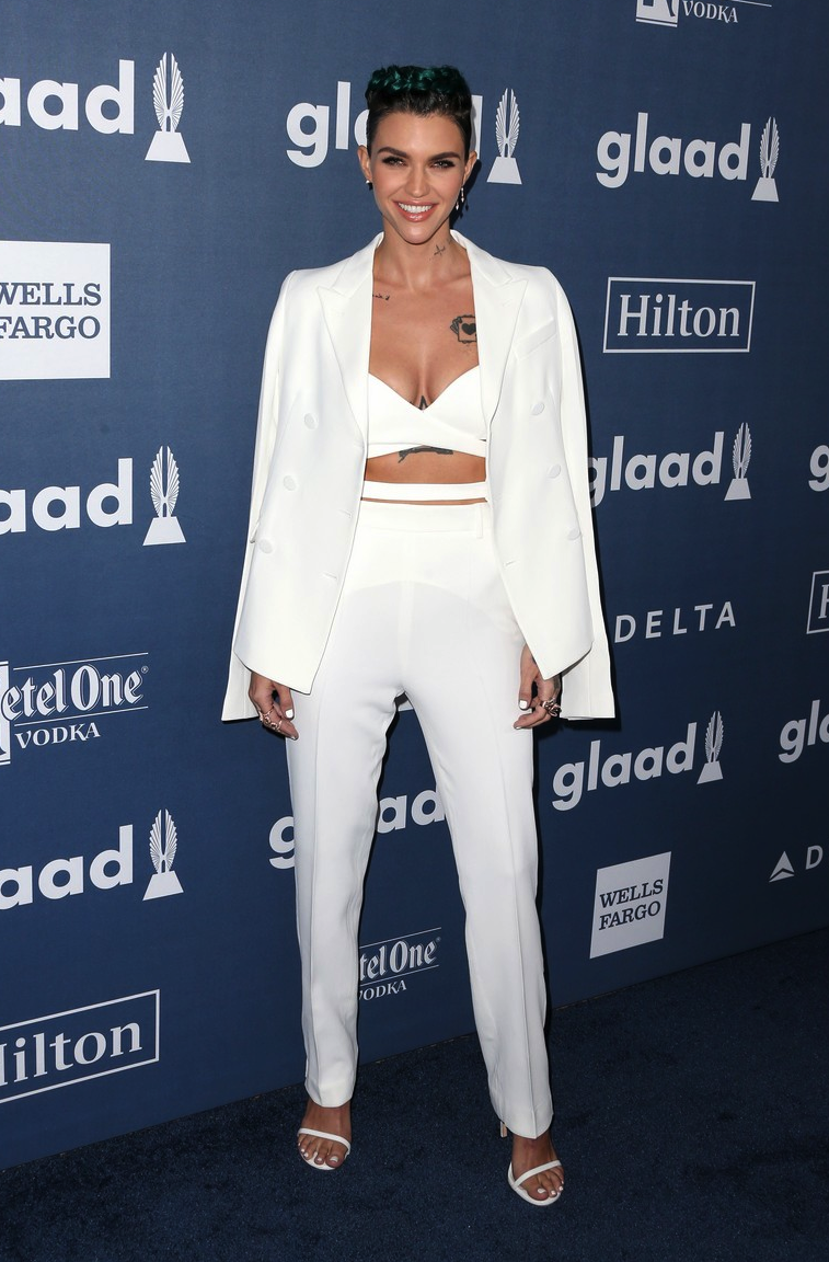 Ruby Rose honored at the 27th Annual GLAAD Media Awards (2016)