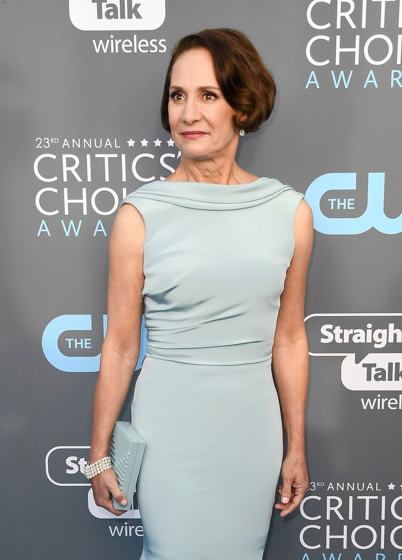 Laurie Metcalf at blue carpet of the Critic's Choice Awards 2018