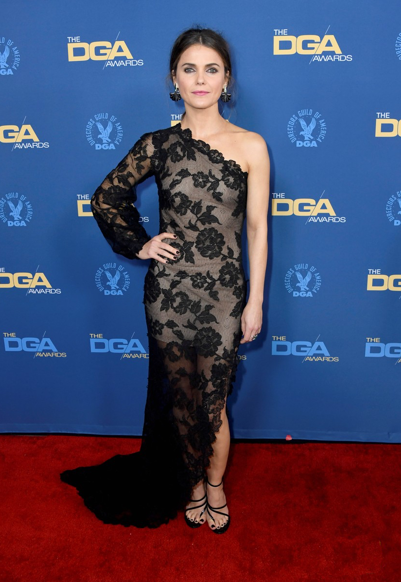 Keri Russell on the carpet of the DGA Awards 19'