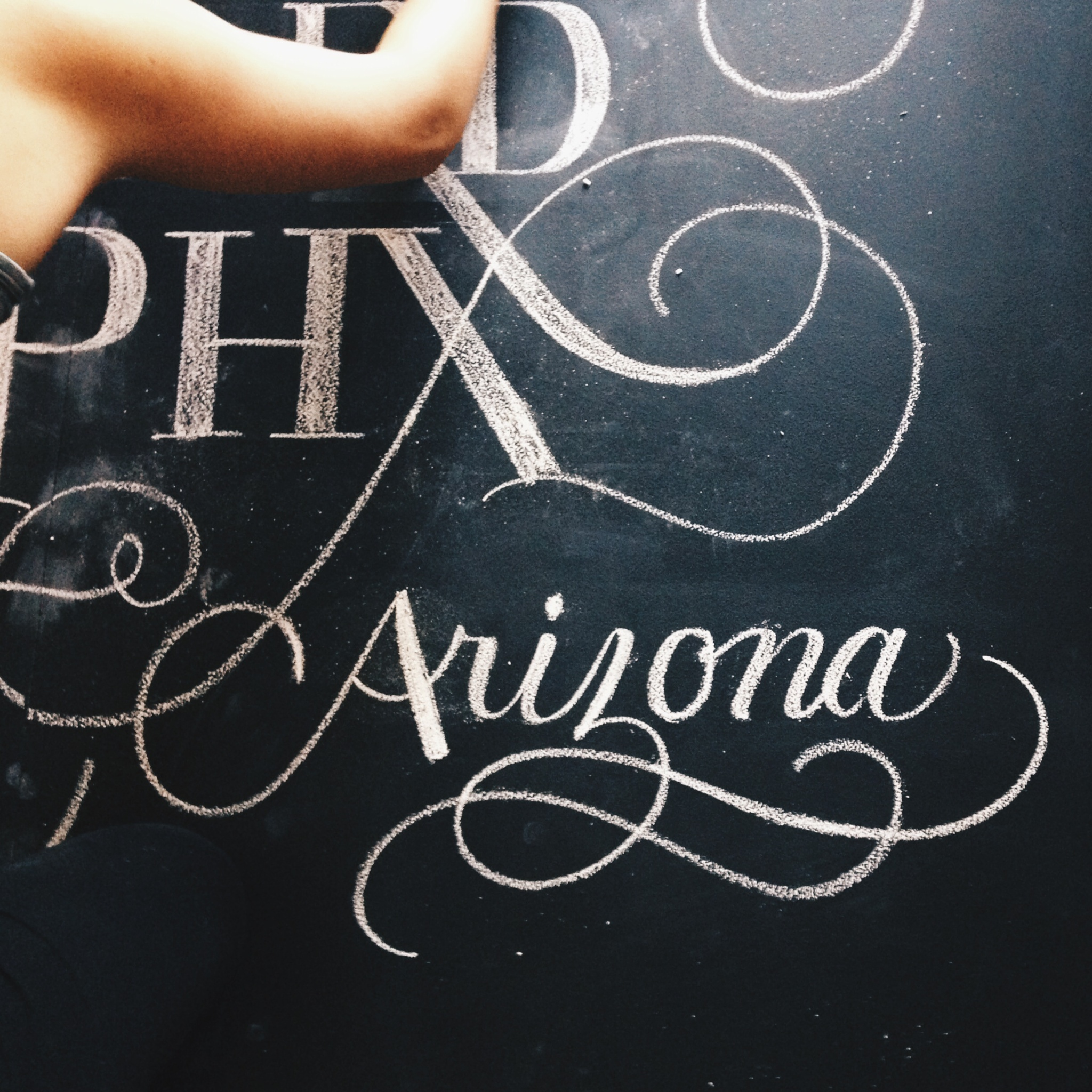 Chalk Lettering Photo Backdrop by:  Autumn Matney