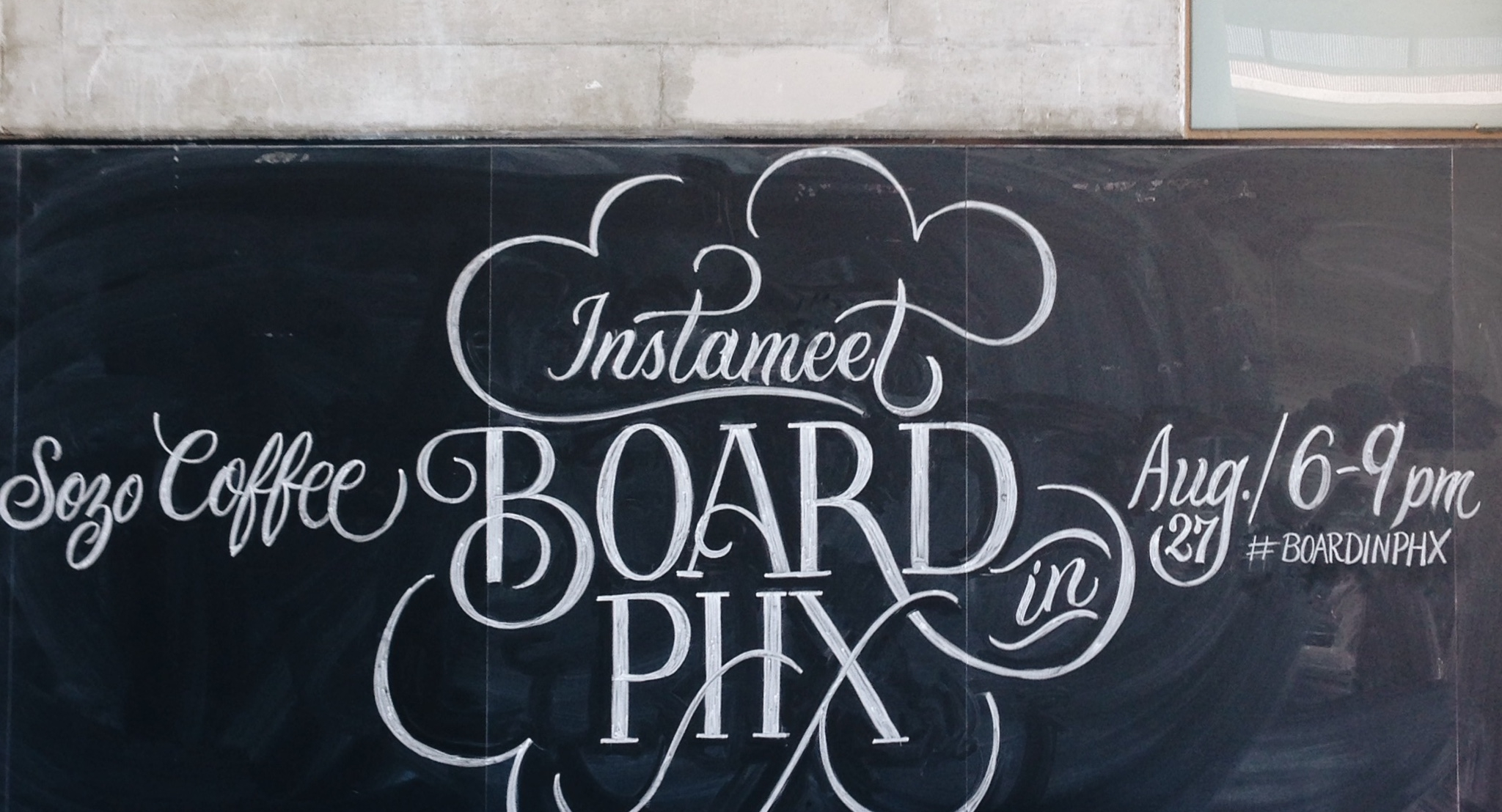 Chalk Lettering Advertisement Courtesy of :  Scott Biersack (YouBringFire)