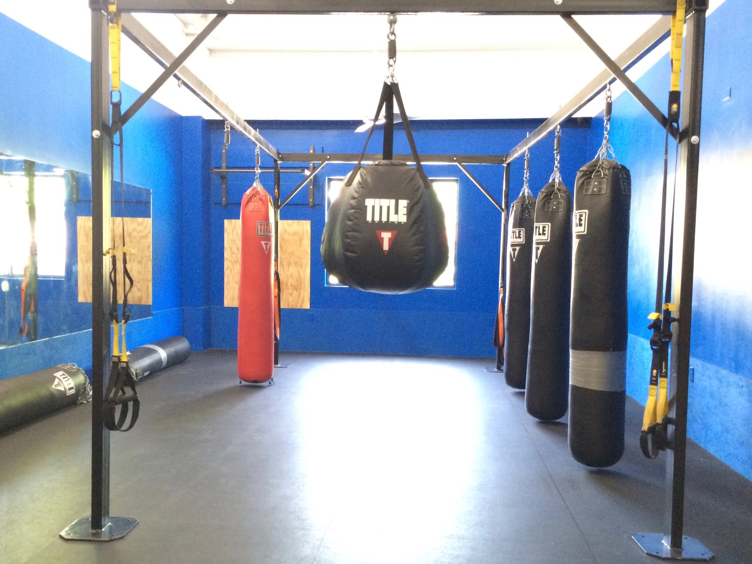 Training Gear - Everlast Ultimate 8-Station Boxing RigTitle Muai Thai Heavy BagsTitle Uppercut Heavy BagTitle 150lb Ultra Heavy BagTitle Round TimerTitle Speed Bag w Pro Swivel*Gloves Required. Some Freebie Gloves Available, Also Rentals for $2 or Purchase a Set From Us