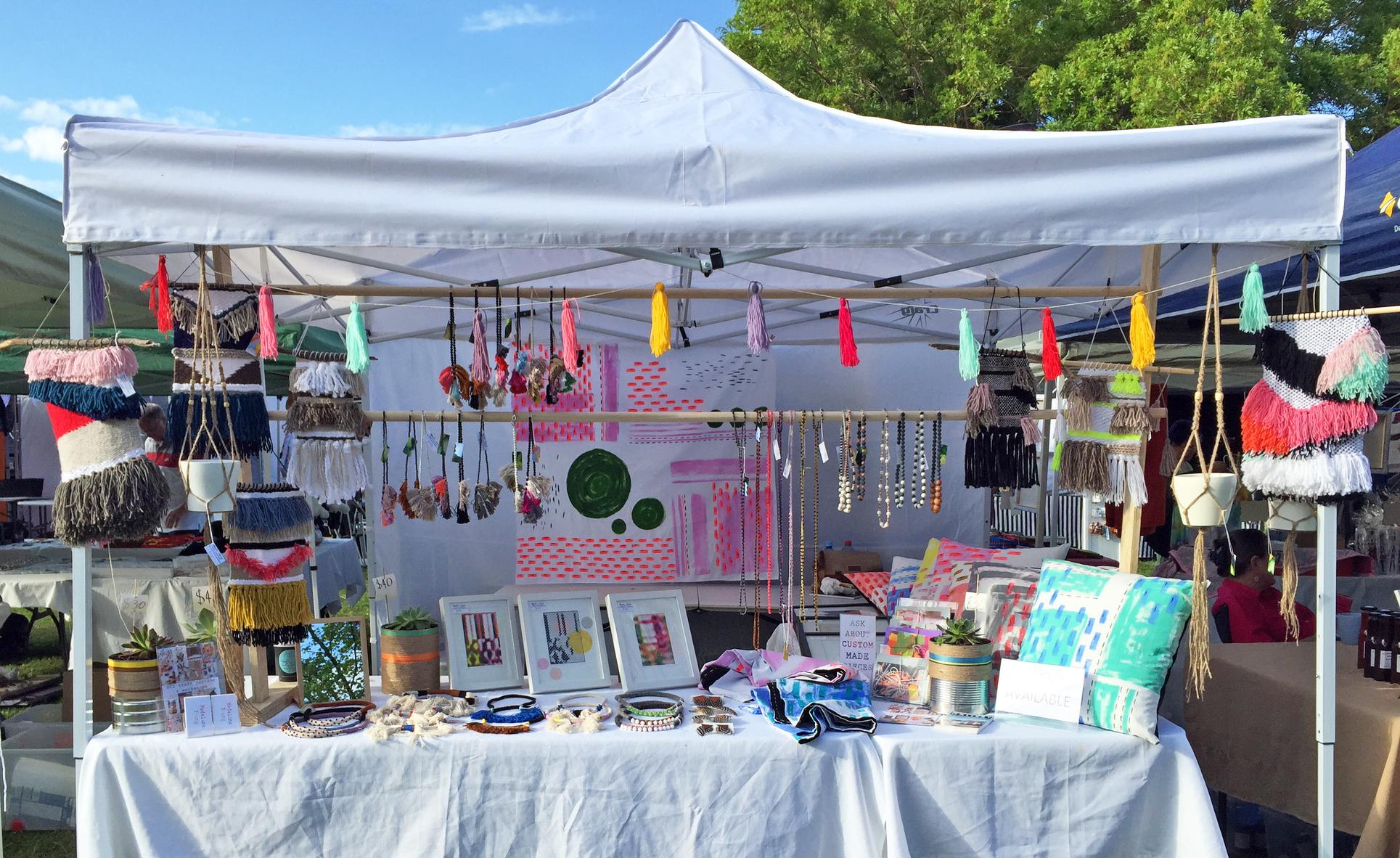 Madi Jane Handmade market stall, Madeline Young, Australian designer