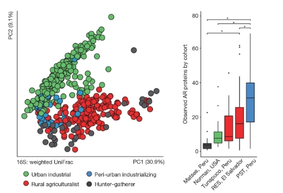 Interconnected microbiomes and resistomes in low-income human habitats. Pehrsson EC, Tsukayama P  et al.   Nature  2016