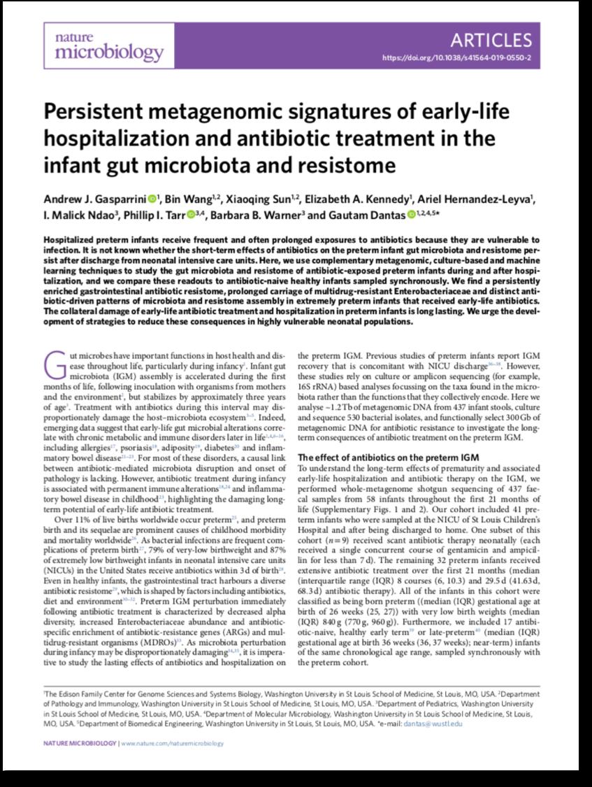 Gasparrini  et al.   Nature Microbiology  2019