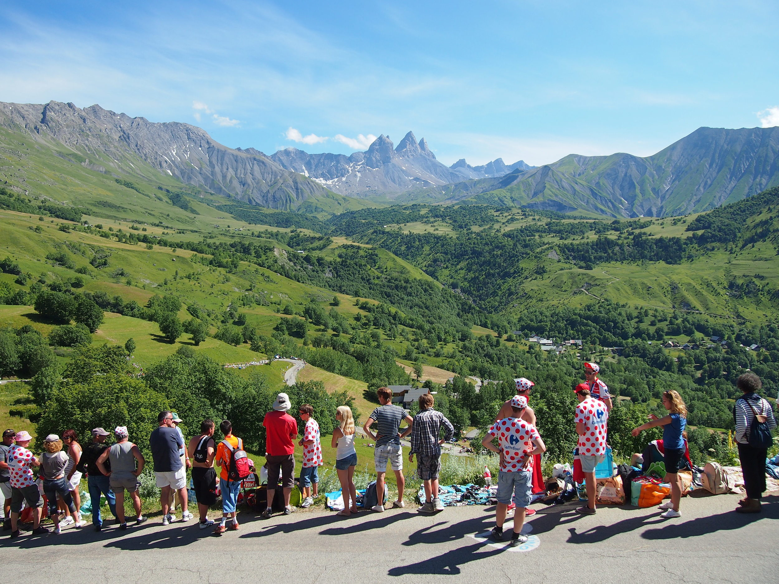 Tour de France 2012 on the Col du Mollard in the French Alps