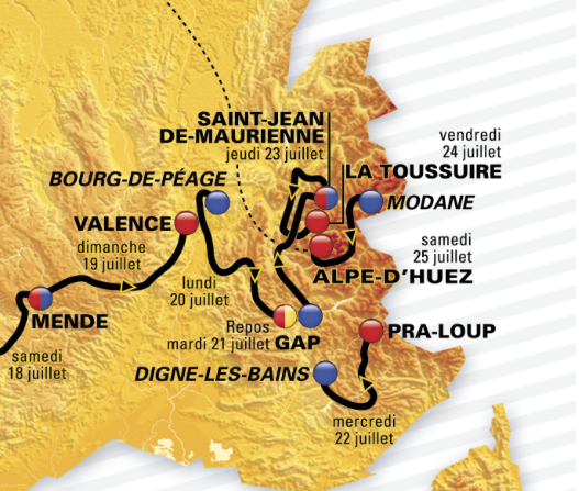 The final mountain stages of the 2015 Tour de France in the French Alps
