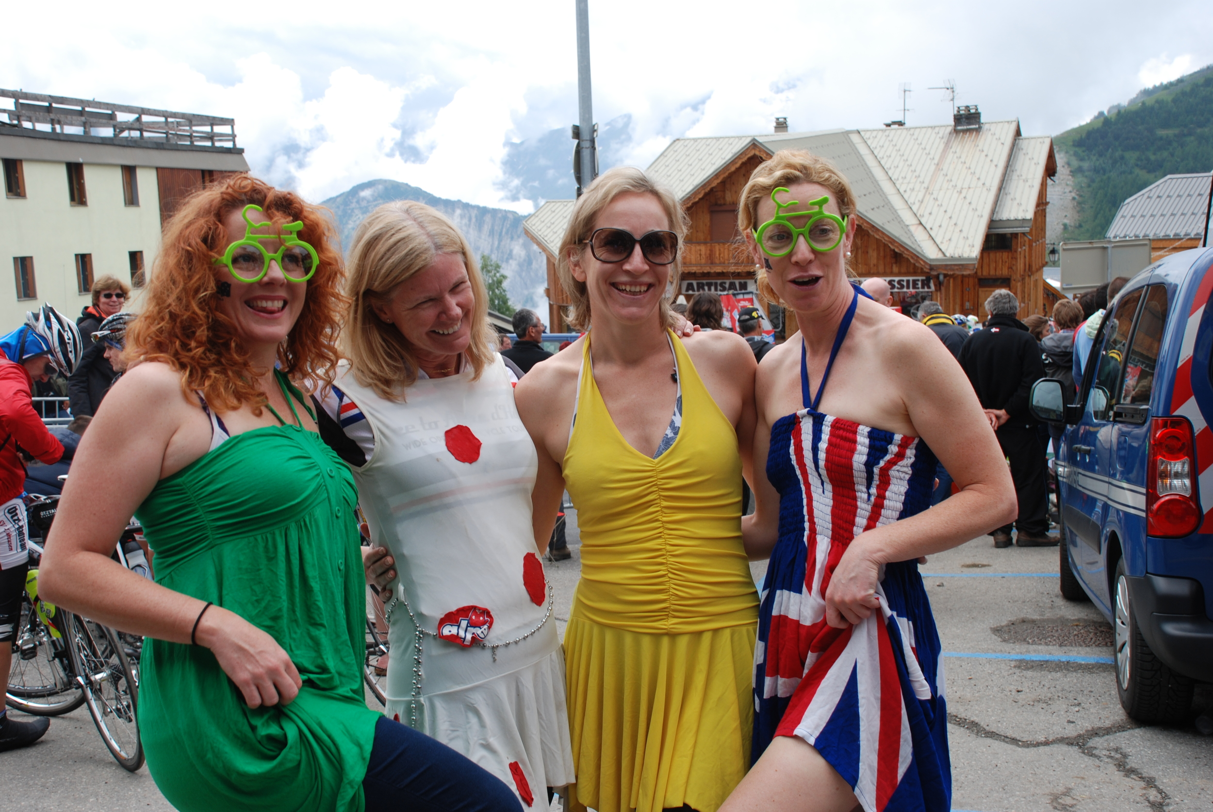 Awaiting the arrival of the Tour de France on Alpe d'Huez, 2013