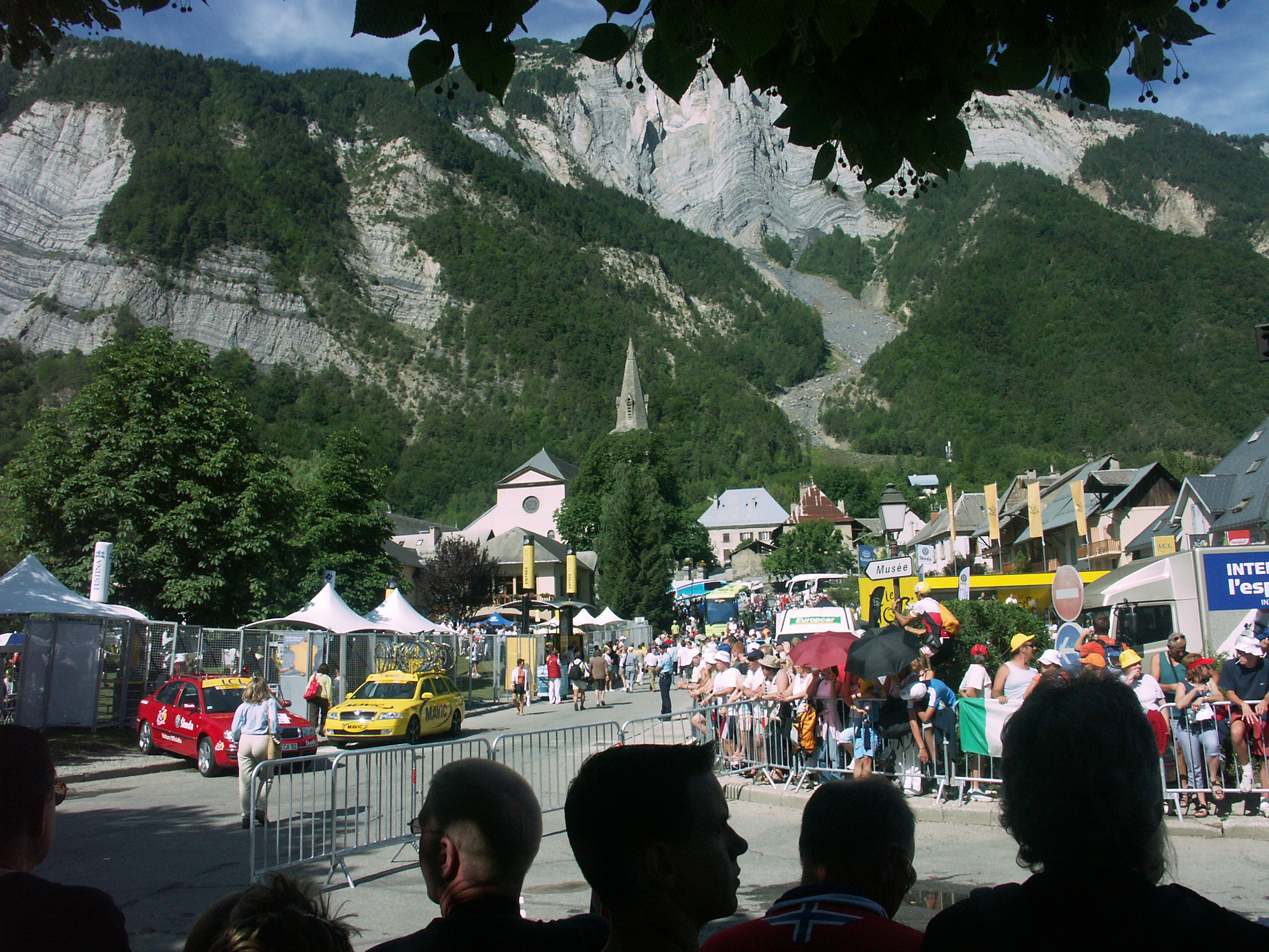 Bourg d'Oisans, a cyclists mecca at the foot of l'Alpe d'Huez