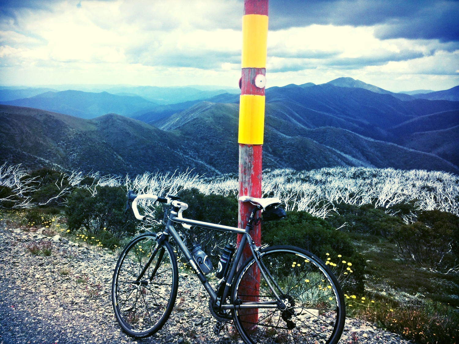 The view over the Victorian Alps from near Mt Hotham Summit.