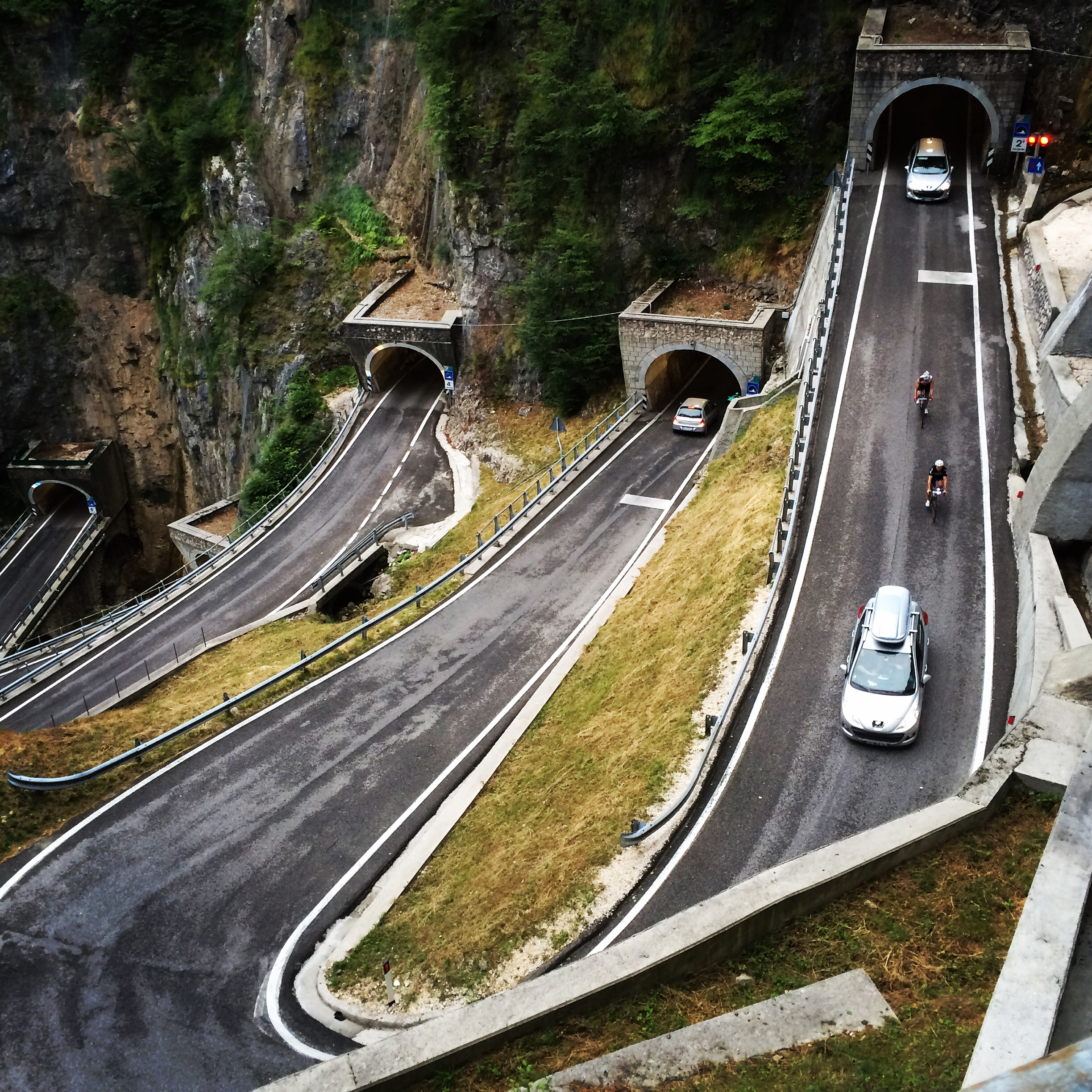 Descending the Passo San Boldo
