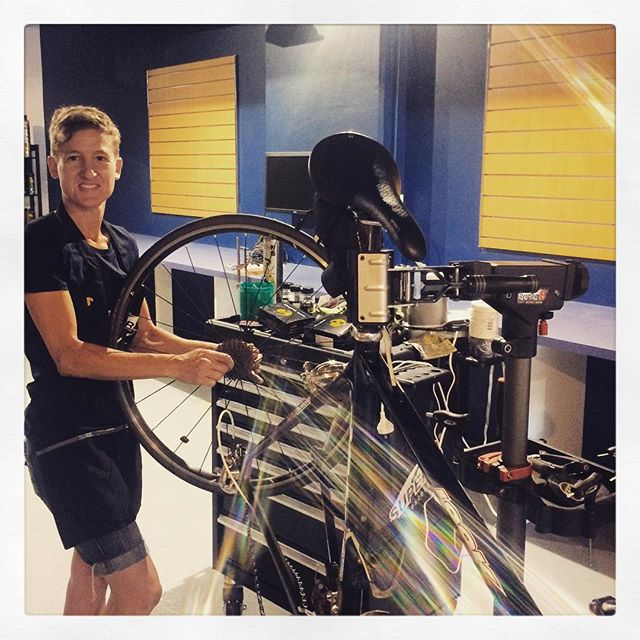 "WOR Crew Mechanic Emma at work in the ""off-season"" back home in Melbourne"