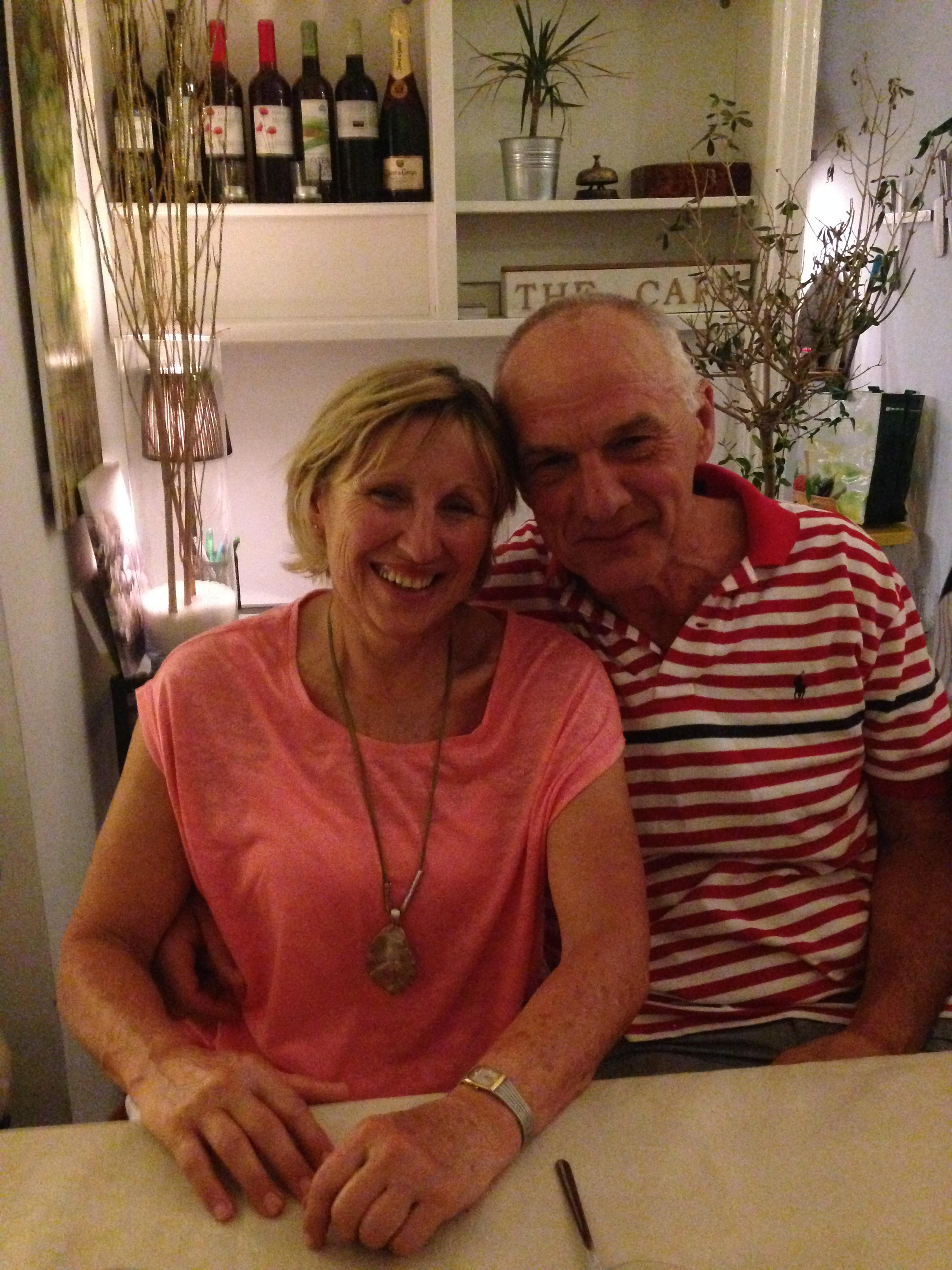 Pam and Franc at our final dinner in Barcelona!