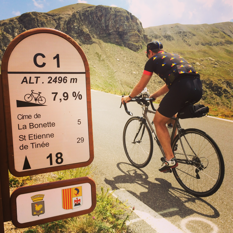 Climbing the Col de la Bonette