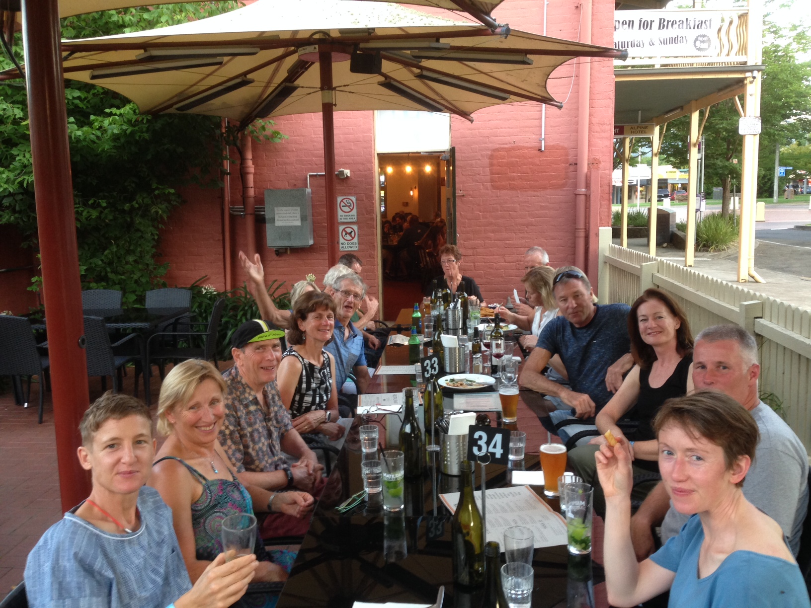 WOR reunion dinner at the Pub!