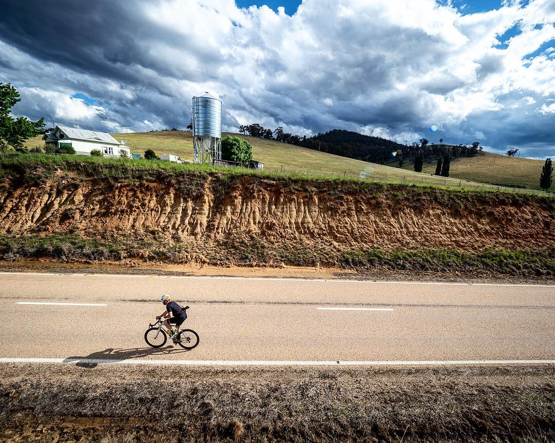 Cycling through farmland on the way to Omeo. Photo Credit: Beardy McBeard.