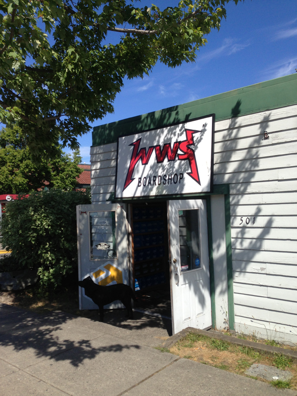 WWS Skateboard and Snowboard shopin Fairhaven, part of Bellingham, Washington