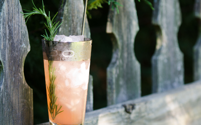 evergreen swizzle gin cocktail