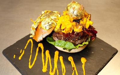 golden hamburger