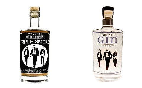 gin and whisky