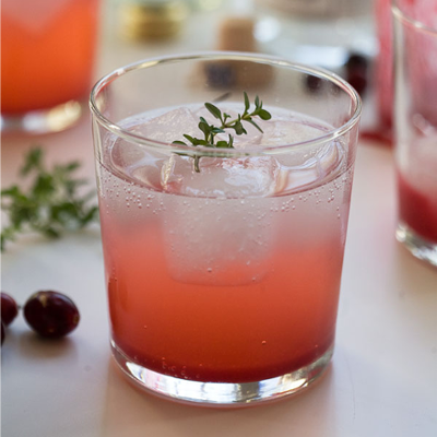 gin cranberry thyme gin and tonic