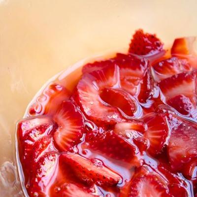strawberry basil and lemon syrup