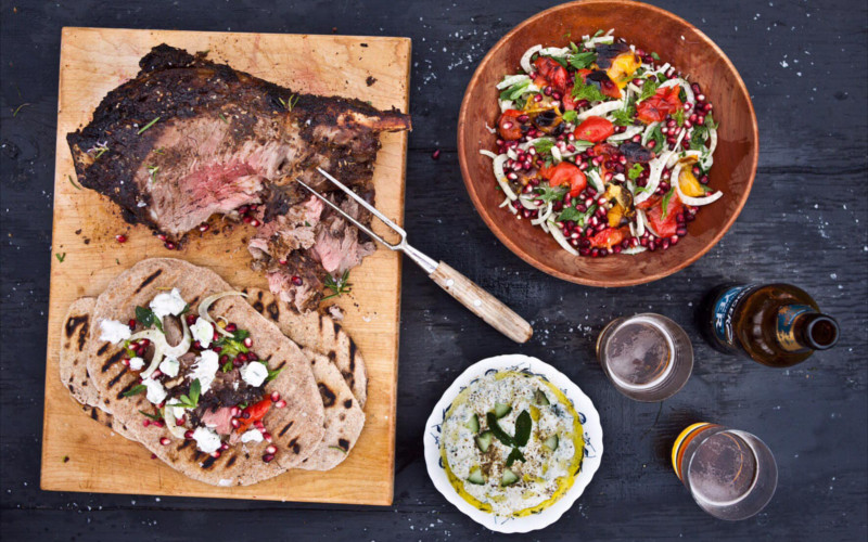 Large flatbreads lamb and gin recipe