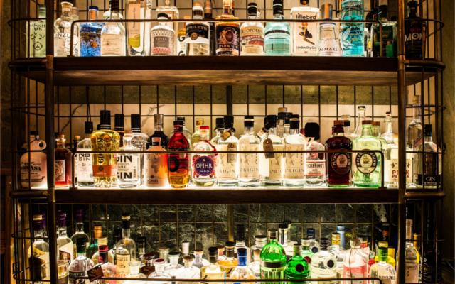 gin shelf holborn gin bar dining room