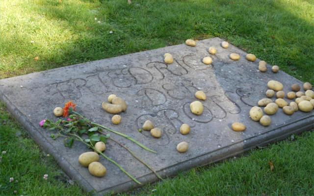 frederick the great potato grave