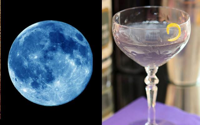 Blue moon cocktail violet liqueur