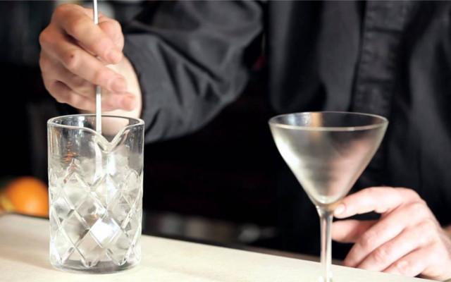 The mixing martini stir