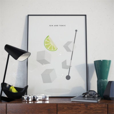 Print of gin and tonic etsy trouva