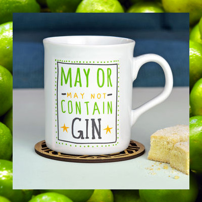 may or may not contain gin mug