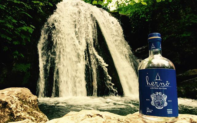 Herno gin Sweden Waterfall club member pic