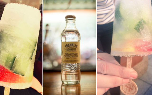 G&T Ice lolly franklin and sons tonic