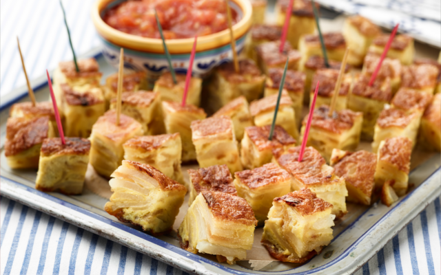 Tortilla Espanola Spanish Omelette Tapas with Gin and Tonic
