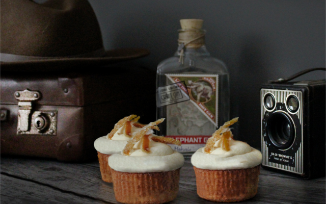 Gin bakers negroni cupcakes