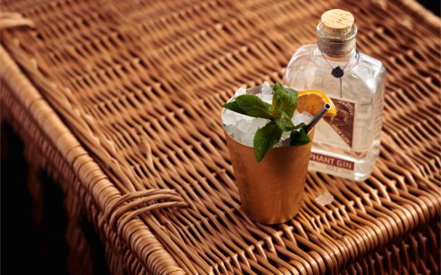 ChariTea Elephant gin cocktail charity