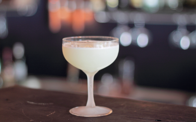 White lady gin cocktail