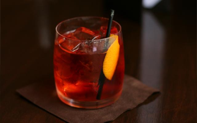 Haunted halloween gin cocktail
