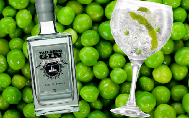 Gin and pea cocktail