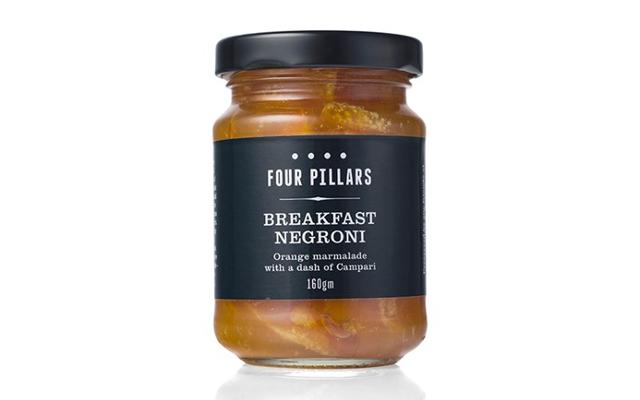 Four Pillars breakfast negroni marmalade with campari