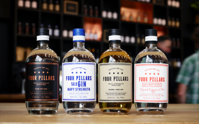 Four Pillars Gin variations navy negroni oak aged