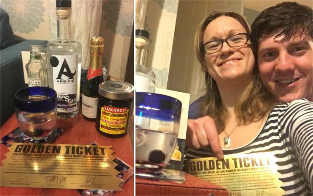December Craft Gin Club Golden Ticket Winner