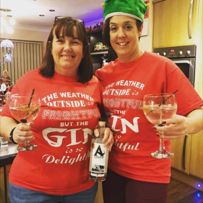 Ginstagram winner for Arbikie gin christmas themed